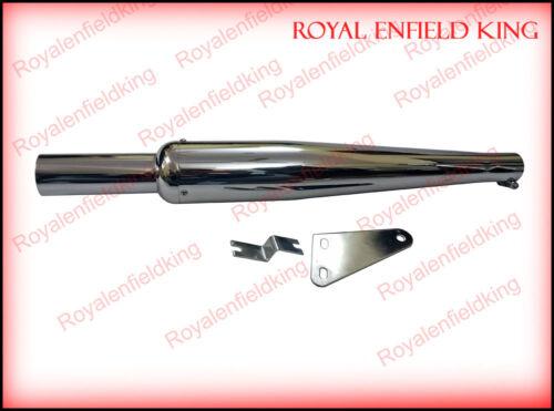 AEW Goldstar W//B Chromed Exhaust Silencer For Royal Enfield