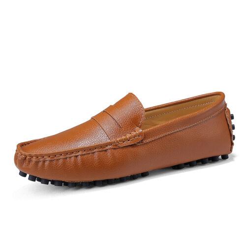 Gr.38//50 Herren Business Loafers Slipper Outdoor Leder Freizeit Flach Mokassins