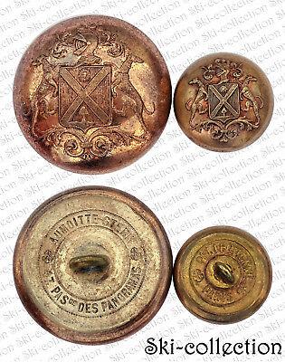 2 Antik Schaltflächen Lackierung,famille Bastoulh (toulouse) . Richtung 1860. Mild And Mellow