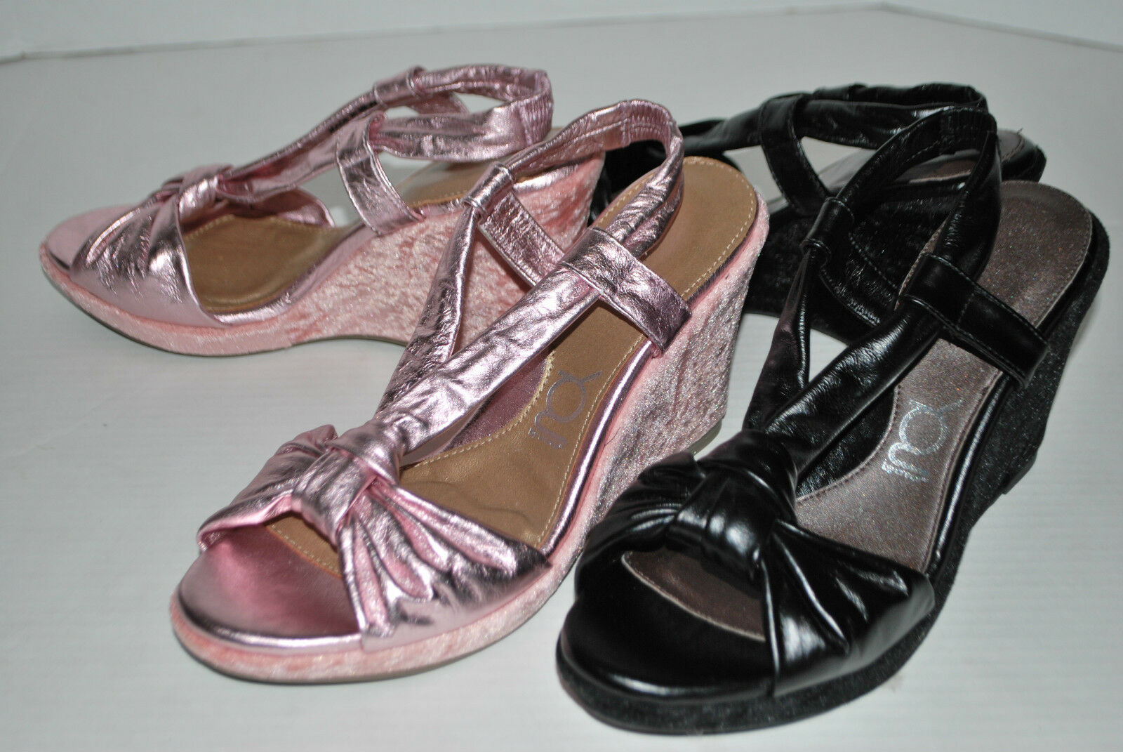 NEW METALLIC YOU BY CROCS LAURALOU LEATHER strappy sandals PINK METALLIC NEW or BLACK 9 10 c068ee