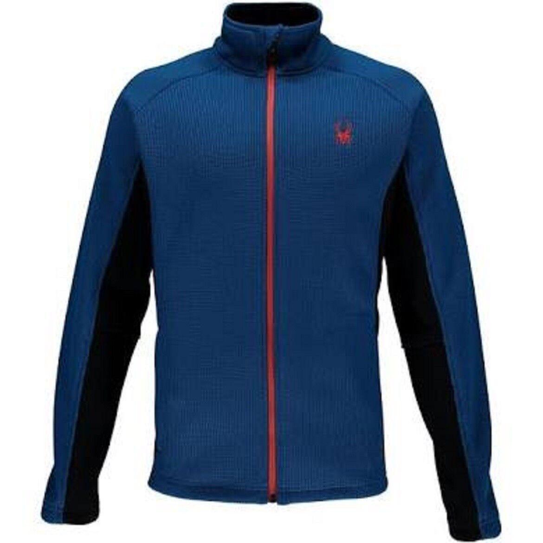 NWT  Herren Blau Spyder Constant Full Zip Mid weight core sweater 149 Größe Medium