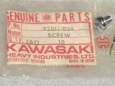 1977-1983 Kawasaki KZ 650 CSR 750 LTD Chrome Muffler Cover Screw NOS 92011-039