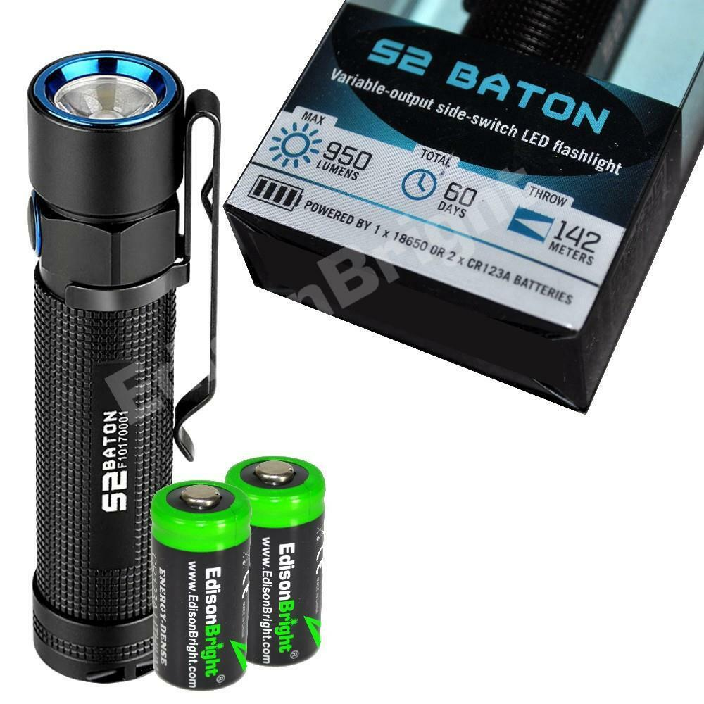 Olight S2 950 lumen Cree LED Flashlight w   2 X CR123A battery Lanyard magnetic  healthy