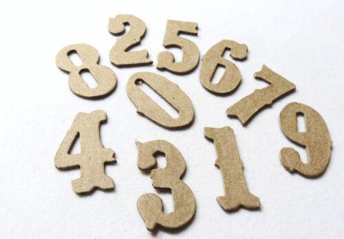 """50 points  Chipboard Alphabet Letter set Antique Font Heavy duty 0.05/"""" 1.25/"""""""