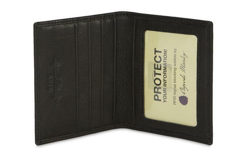 Osgoode Marley Leather RFID Blocking Flat Card Case 1204 Black