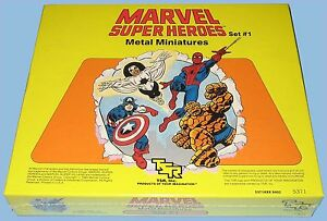 MARVEL FIGURES METAL MINIATURES - TSR - SET #1 - 1984 - MINT IN A SEALED BOX