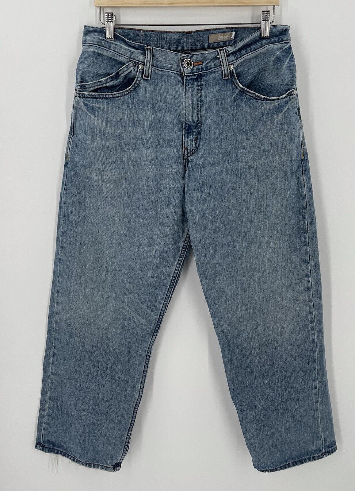Vintage 90s Levis SilverTab Mens 32 x 29 Baggy De… - image 1