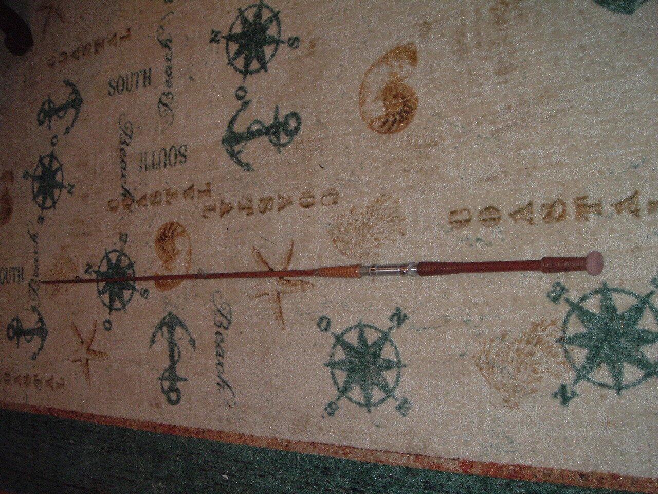 Frostco Tackle caña de pescar Pole Madera Hexagonal Antiguo Vintage De Madera