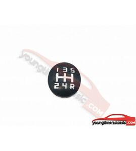 Pastille-205-pour-pommeau-de-vitesse-5-vitesses-grille-BLANCHE-BE3