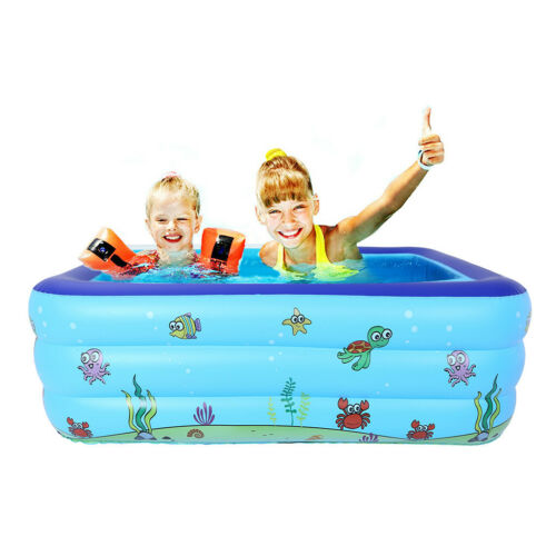 Large Inflatable Swimming Pool Kids Water Play Fun For One//Two//Three Children