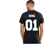 Unisex-Summer-King-and-Queen-Couple-Tee-Love-Matching-Short-Sleeve-T-Shirts-Tops thumbnail 25