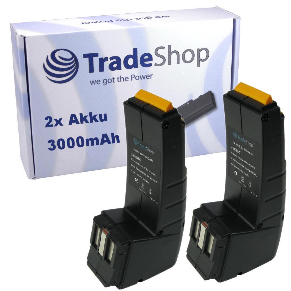 2x AKKU für Festool Festo 9,6V 3000mAh 3Ah BPH-9,6C FS-984 CCD-9,6
