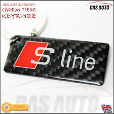 AUDI S LINE CARBON FIBRE KEYRING a1 q5 tt a3 a4 a5 a6 s3 s4 s5 rs quattro chain