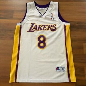 EUC CHAMPION NBA LOS ANGELES LAKERS #8 KOBE BRYANT SUNDAY WHITE ...