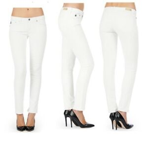 Goldschmied 299 Size Ag W25 Stilt Adriano The Women's Rrp Jeans Cigarette White Awfwp