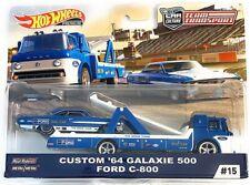 Hot Wheels 2019 Team Transport Custom '64 Calaxie 500 & Ford C-800 1/64 Diecast