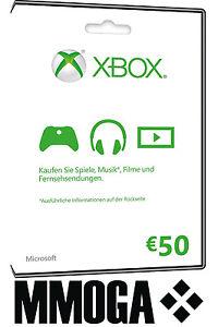Das Bild Wird Geladen Xbox Live 50 Euro Guthaben Online Code Microsoft