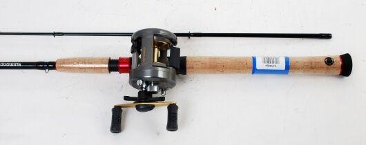 Shimano Corvalus 301 Main Gauche Baitcast fishing reel, 6.5 Ft (environ 1.98 m) Graphite Rod, nouveau