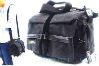 Vintage Canvas DSLR Camera Bag Messenger Shoulder Bag For Nikon Sony Canon fuji