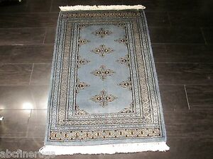 2x3 Bokhara Allover-pattern Natural Vegetable Dye Hand-knotted Wool Rug 582302