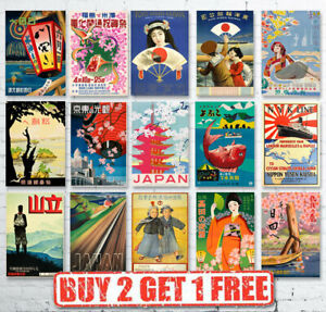 Vintage-High-Quality-Japanese-Japan-Travel-Posters-Prints-Wall-Art-A4-A3-A2-A1