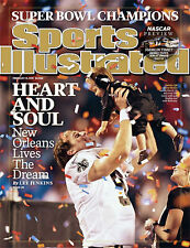 February 15, 2010 Drew Brees New Orleans Saints SPORTS ILLUSTRATED NO LABEL