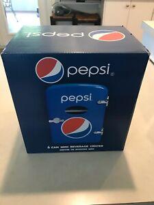 Pepsi 6 Can Personal Mini Cooler Mini Fridge 120VAC or 12VDC Portable!