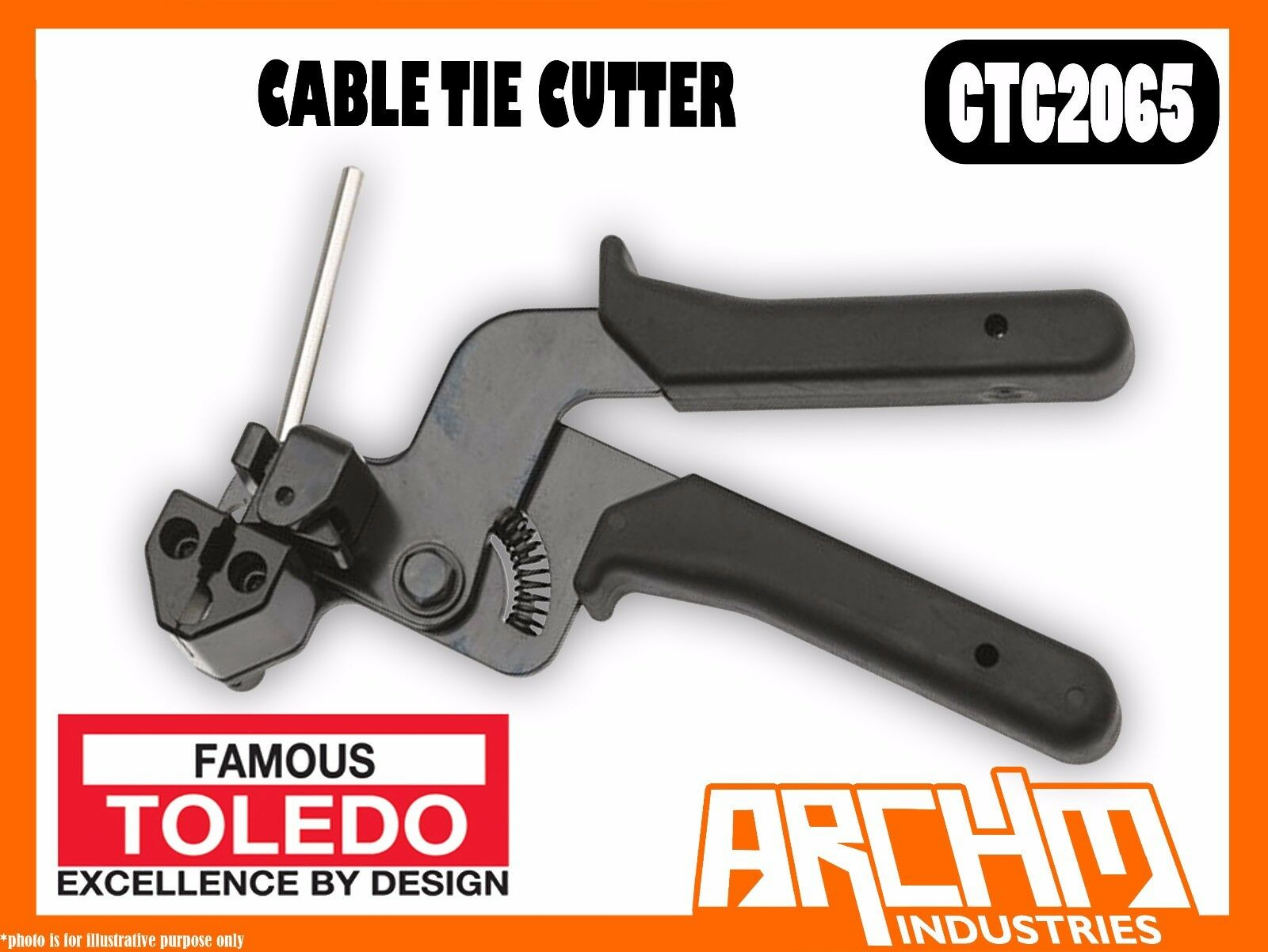 TOLEDO CTC2065 - CABLE TIE CUTTER - METAL CABLE TIES - STAINLESS STEEL