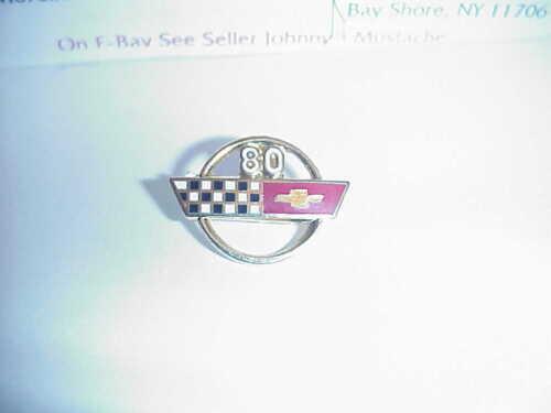LAPEL PIN TIE TAC CLOISONNE ENAMEL 1980 Corvette  HAT PIN