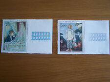 MONACO,1971,PAINTINGS,2 VALS,U/MINT,EXCELLENT.