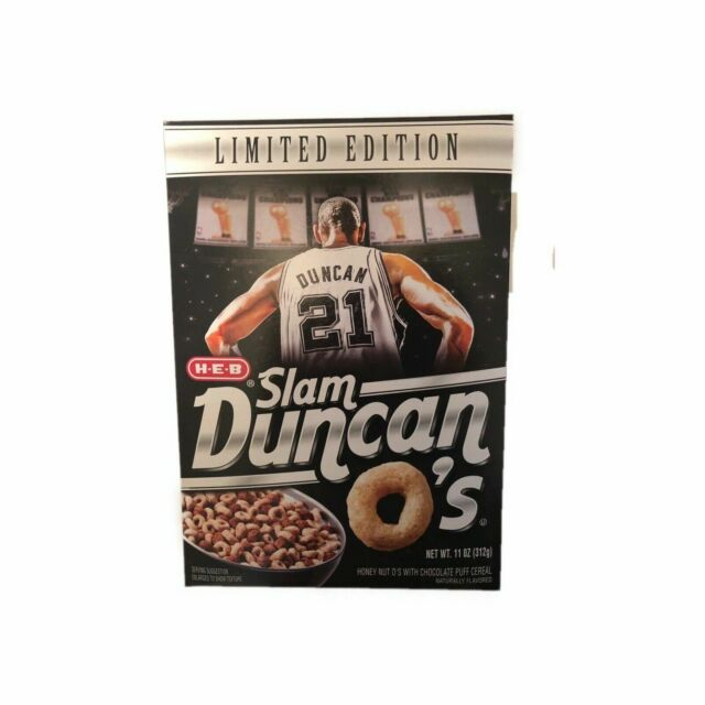2016 LIMITED EDITION COLLECTOR/'S BOX HEB SLAM DUNCANS CEREAL BOX LIMITED EDITION