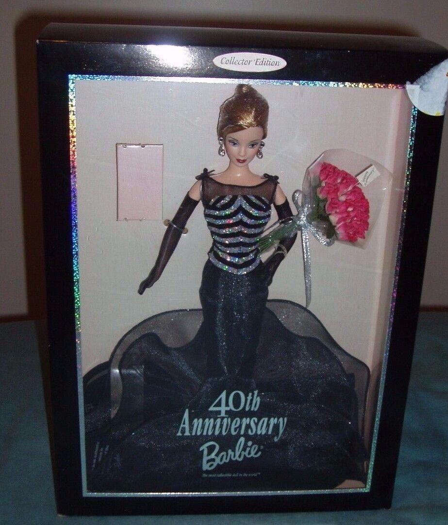 40th Anniversary 1999 Barbie Barbie Barbie Doll  21384 NEW in box b03eda
