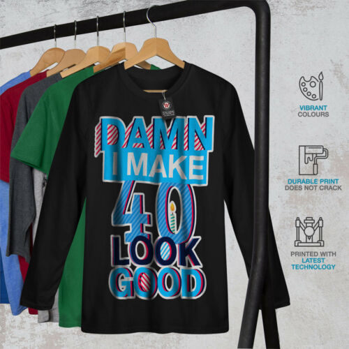 40 anni Compleanno Uomo Manica Lunga T-shirt Nuovewellcoda