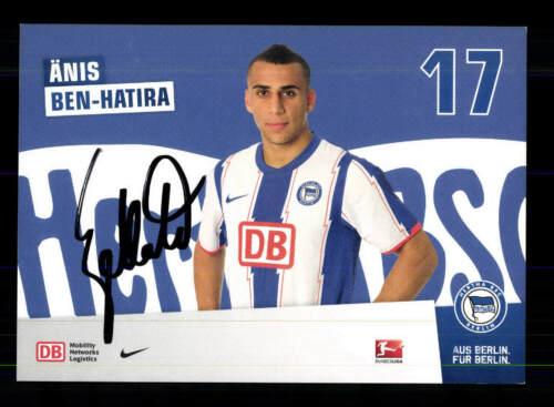 Änis Ben Hatira Autogrammkarte Hertha BSC Berlin 2011-12 Original Signiert