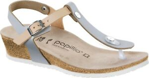 136667dc889 Image is loading CLEARANCE-Papillio-by-Birkenstock-ASHLEY-Leather-Frosted- Metallic-