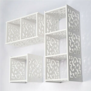 White-Cube-WPC-Wooden-Wall-Cube-Floating-Shelf-Display-Storage-Unit-Cubes-Shelve