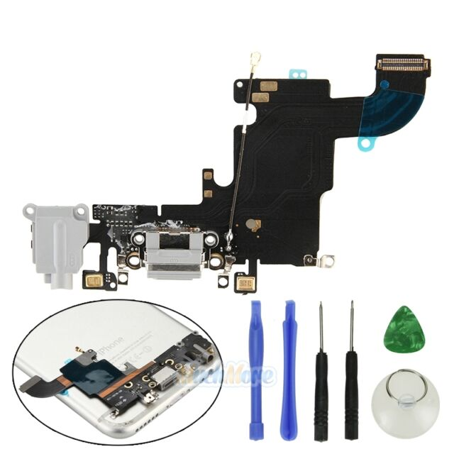 OEM Gray Charging Port Headphone Jack Mic Audio Flex Cable For iPhone 6S 4.7''