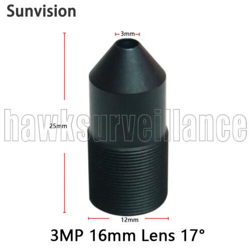 HD 16mm CCTV lens M12*0.5 MTV interface MP pinhole for 1080p//IP Security camera