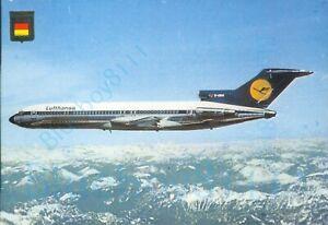 Lufthansa  Boeing 727 Fisa Printed Continental Modern Postcard