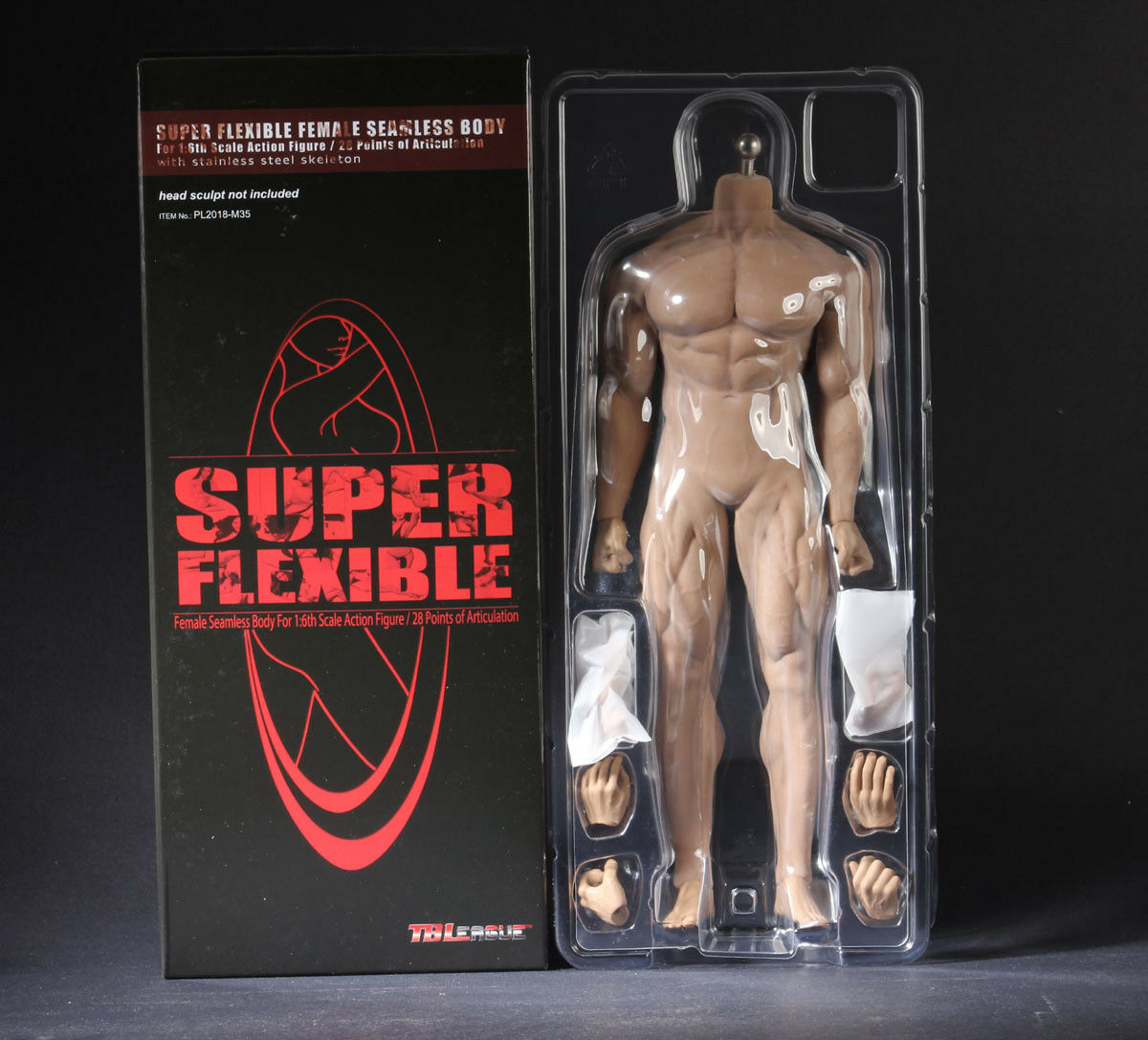 TBLeague 1/6 Super Flexible Male Seamless Body-M35 PL2018-M35 Steel Skeleton