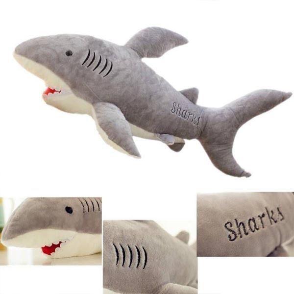 Big Shark Soft Toy Xmas Gift Stuffed Cushion Large Animal Plush Toys