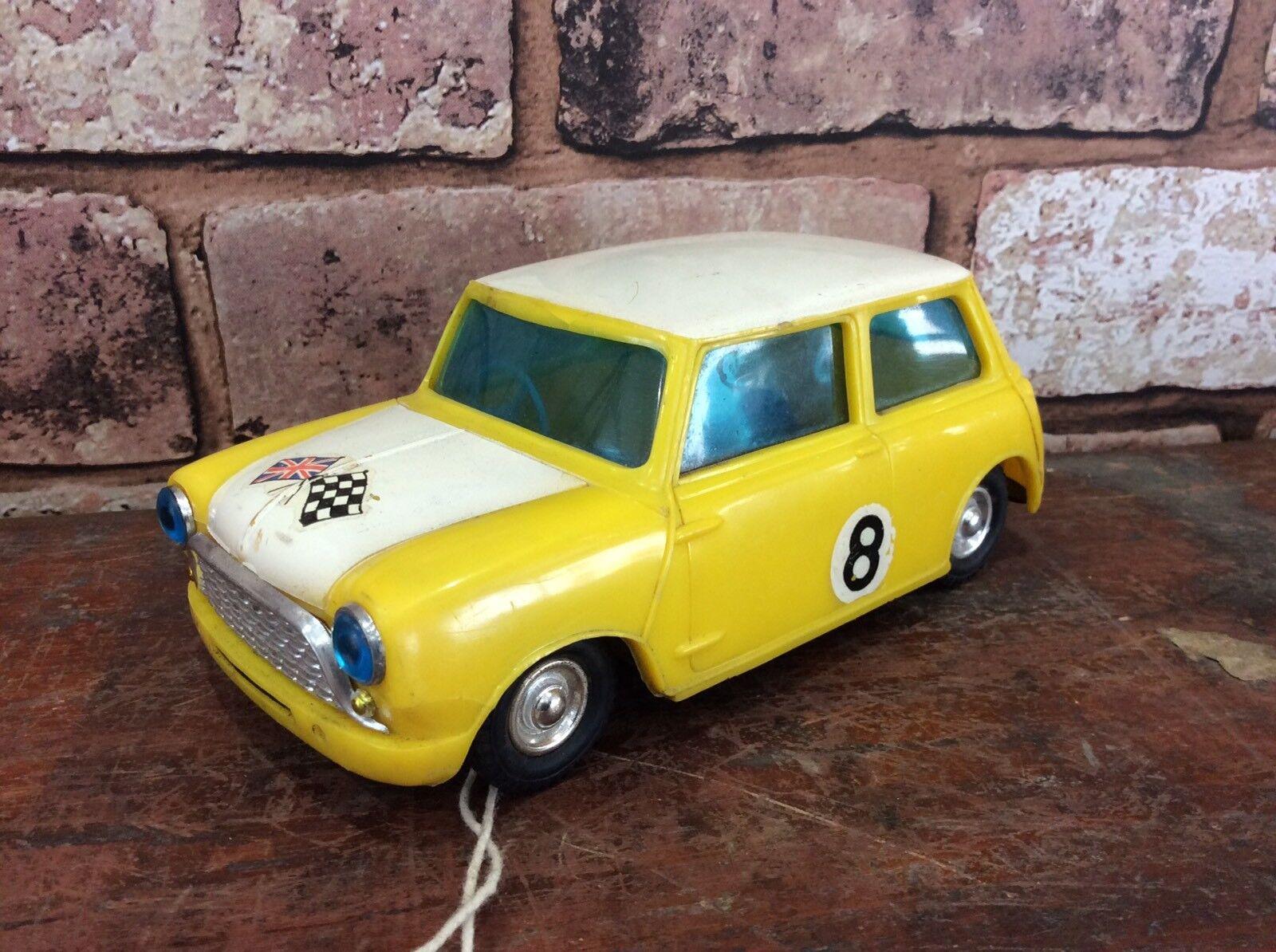 Vintage 1960's Plastic Friction Drive Racing Mini