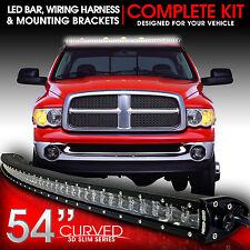 "3D LED Light Bar Kit 54"" Inch 312W Bracket Wiring Switch for 2003-2009 Ram 2500"