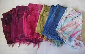 Levis-Customised-Vintage-Denim-High-Waist-Waisted-Reworked-Shorts-Hotpants-S-XL