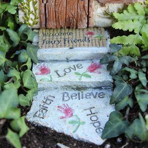 Miniature Fairy Garden WELCOME FAIRY WALKWAY (NIP)