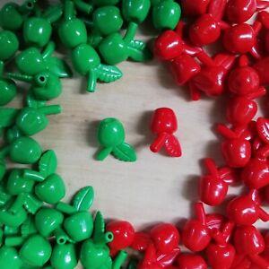 LEGO-x2-Qty-Apples-Minifigure-Utensil-Apple-Green-amp-Red-food-fruit-Choose-Qty