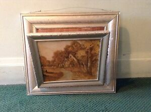 Image Is Loading Vintage Antique Picture Frame Wall Mount Magazine Rack