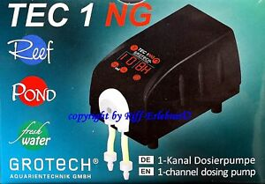 Trustful Grotech Tec 1 Ng 1 Kanal Dosing Pump For Minerals And Micronutrients Relieving Rheumatism Fish & Aquariums