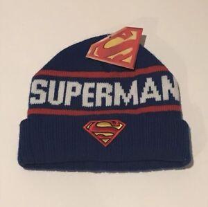 DC Comics Superman Watchmen Knit Cuffed Winter Hat Beanie Sky Cap ... 196b7aa1365