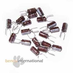 Lot 2//5//10//20 220µf 35v electrolytic capacitor panasonic fc 105 ° lowesr